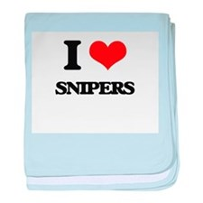 I love Snipers baby blanket