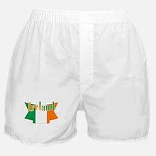 Irish flag ribbon Boxer Shorts
