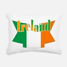 Irish flag ribbon Rectangular Canvas Pillow