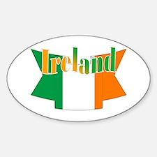 Irish flag ribbon Sticker (Oval)