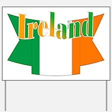 Irish flag ribbon Yard Sign
