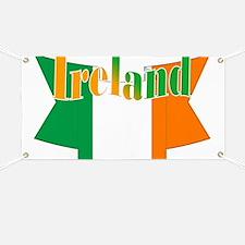 Irish flag ribbon Banner