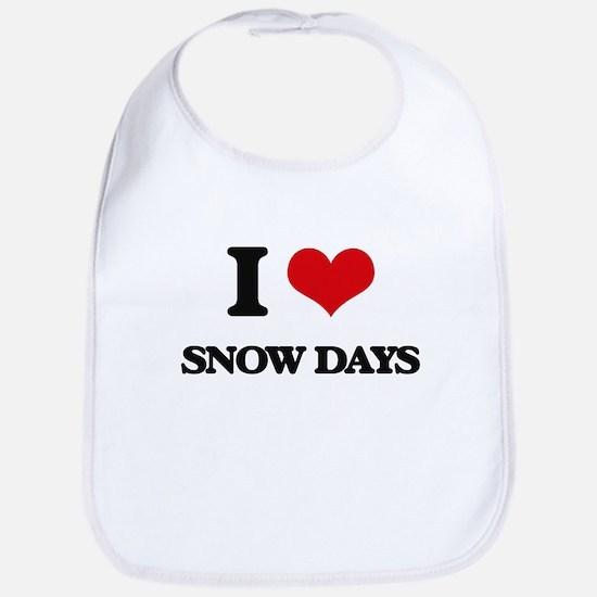 I Love Snow Days Bib