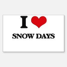I Love Snow Days Decal