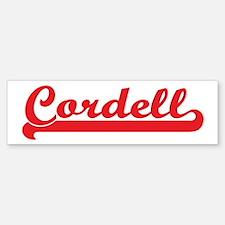 Cordell (retro-sport-red) Bumper Bumper Bumper Sticker