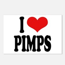 I Love Pimps Postcards (Package of 8)