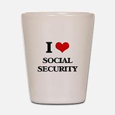 I love Social Security Shot Glass