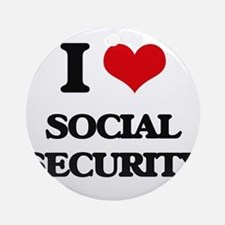 I love Social Security Ornament (Round)