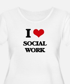 I love Social Work Plus Size T-Shirt