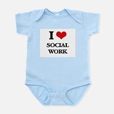 I love Social Work Body Suit