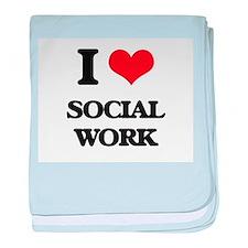 I love Social Work baby blanket
