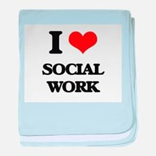 I love Social Work baby blanket