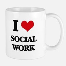 I love Social Work Mugs