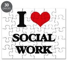 I love Social Work Puzzle