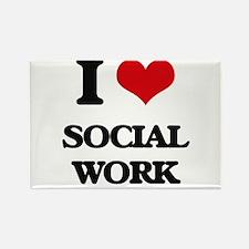 I love Social Work Magnets