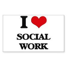 I love Social Work Decal