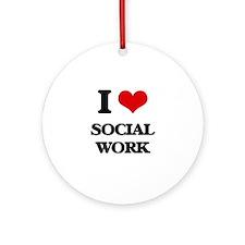 I love Social Work Ornament (Round)