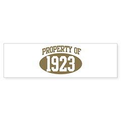 Property of 1923 Bumper Bumper Sticker