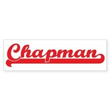 Chapman (retro-sport-red) Bumper Bumper Sticker