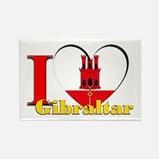 I Love Gibraltar Rectangle Magnet Magnets