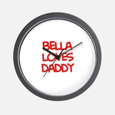 Bella Loves Daddy Wall Clock