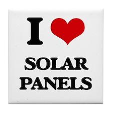 I Love Solar Panels Tile Coaster