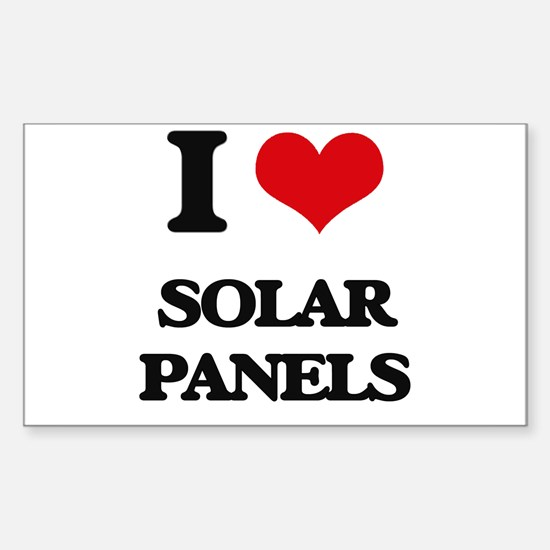 I Love Solar Panels Decal