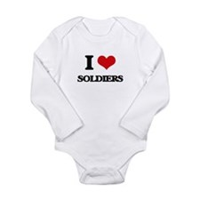I Love Soldiers Body Suit