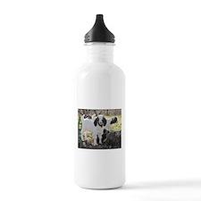 Twin Kids In The Woods Water Bottle