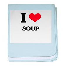 I love Soup baby blanket
