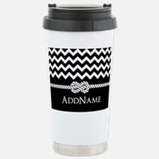 Black and White Chevron with Custom Monogram Trave