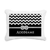 Black and white chevron Rectangle Canvas Pillows