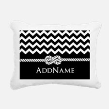 Black and White Chevron with Custom Monogram Recta