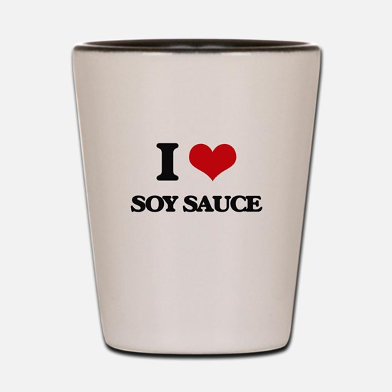 I love Soy Sauce Shot Glass