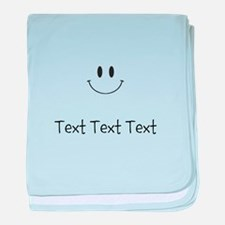 Personalize Smiley Face baby blanket
