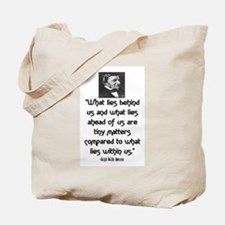 EMERSON - WHAT LIES WITHIN US. Tote Bag