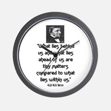 EMERSON - WHAT LIES WITHIN US. Wall Clock