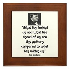 EMERSON - WHAT LIES WITHIN US. Framed Tile