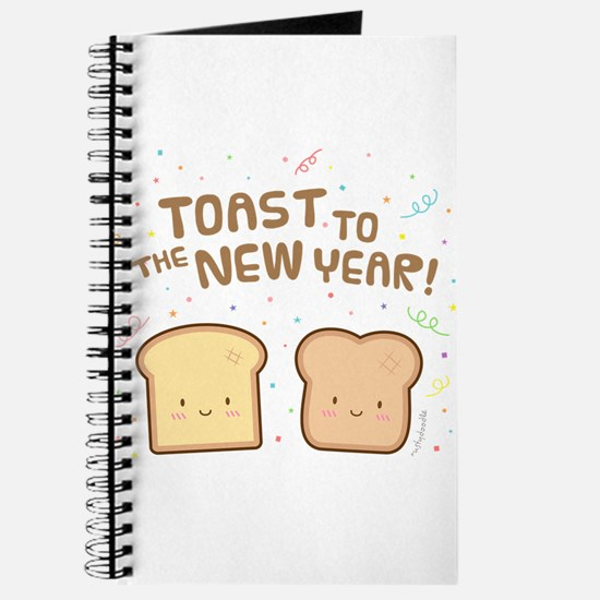 Cute Toast to the New Year Pun Humor Confetti Jour