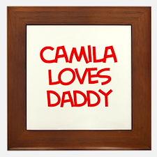 Camila Loves Daddy Framed Tile