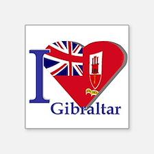 "I love Gibraltar CE Square Sticker 3"" x 3"""