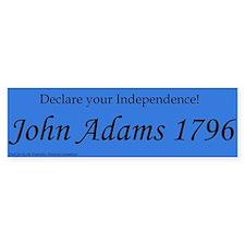 John Adams For President 1796. Bumper Bumper Sticker