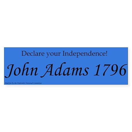 John Adams For President 1796. Bumper Sticker