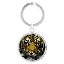 Cute Cat face Round Keychain