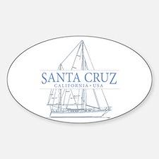 Santa Cruz CA - Sticker (Oval)