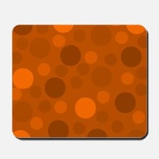 Light Orange Dark and Brown Modern Dots Mousepad