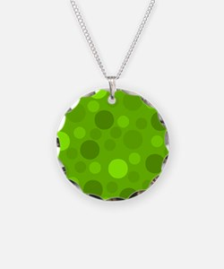 Green Lime Green Light Dark Necklace