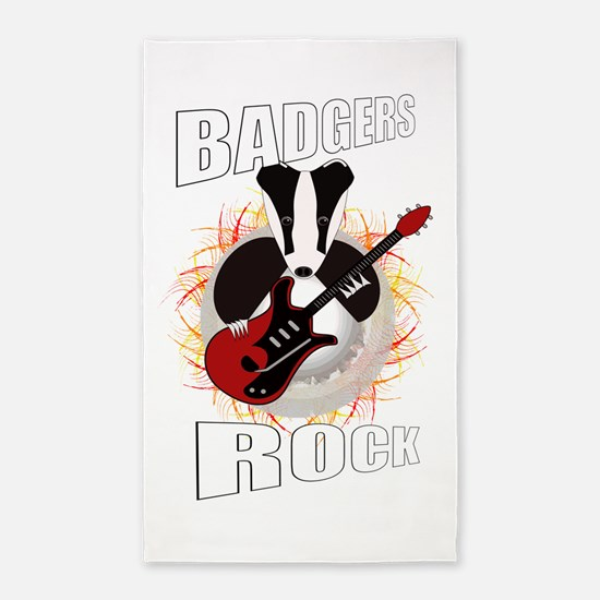 rocking badger Area Rug