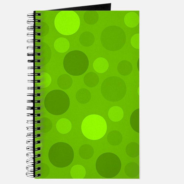 Green Lime Green Light Dark Modern Dots Gr Journal
