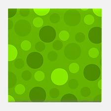 Green Lime Green Light Dark Modern Do Tile Coaster